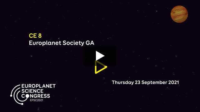 Vimeo: EPSC2021 – CE8 Europlanet Society General Assembly