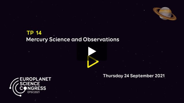 Vimeo: EPSC2021 – TP14 Mercury Science and Observations