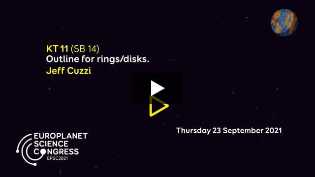 Vimeo: EPSC2021 – KT11 SB keynote talk by Jeff Cuzzi