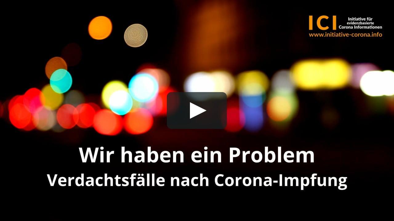 Wir haben ein Problem, Verdachtsfälle nach Corona-Impfung