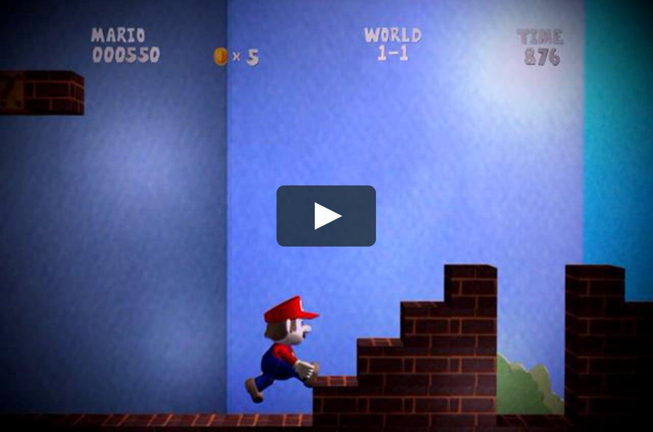 Papercraft Super Mario 3D