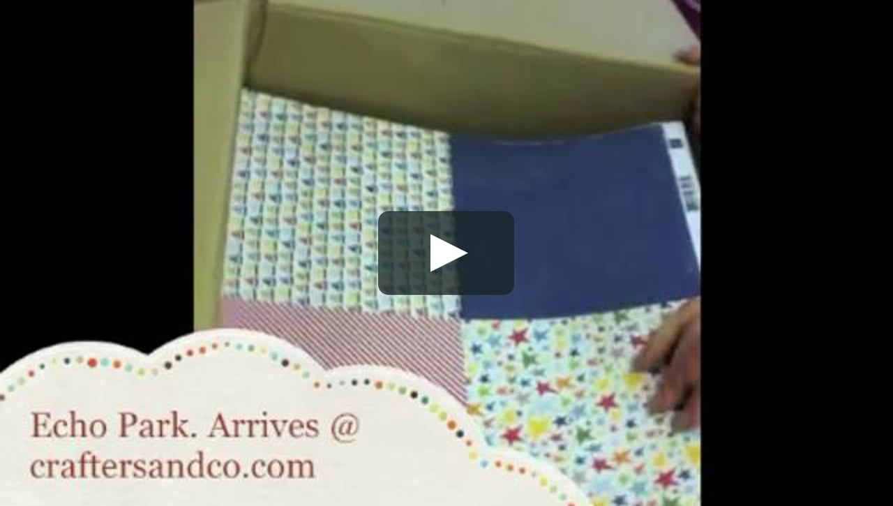 Papercraft Echo Park Papers arrive @ Crafters & Co