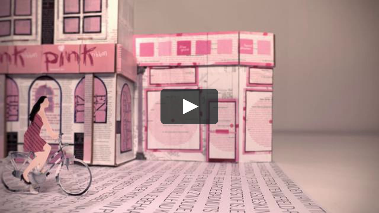 Papercraft Pink Ribbon Magazine Commercial 2011