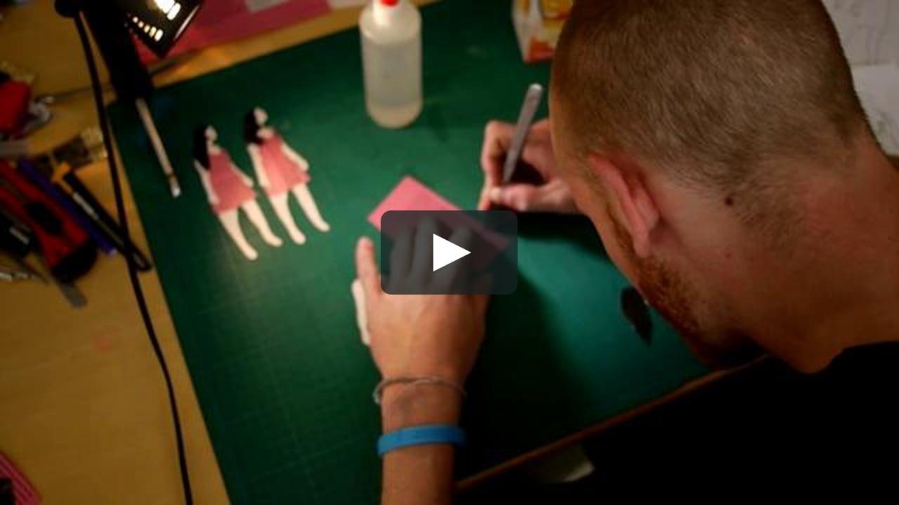 Papercraft Making Of Pink Ribbon Magazine