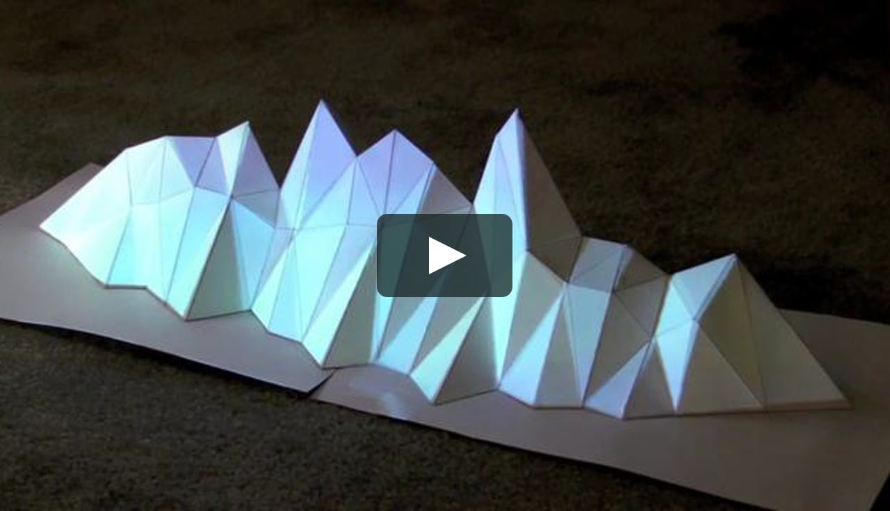 Papercraft Projection Mapping Lighting Test