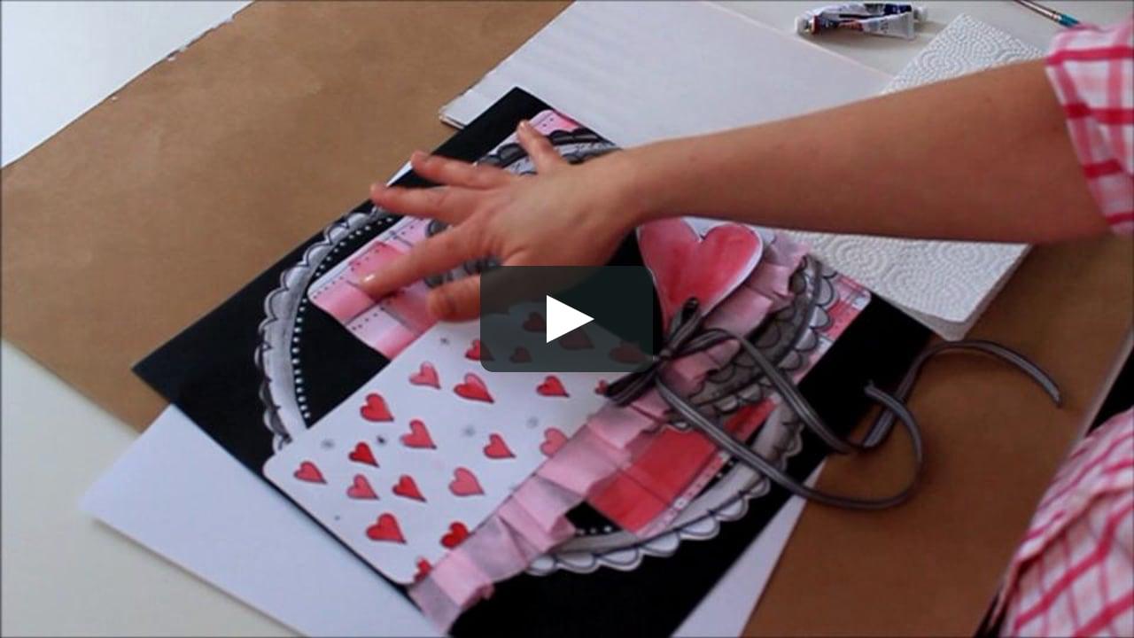 Papercraft Atelier 1 : Créer son papier à motifs :: Scrapbooking de la St-Valentin