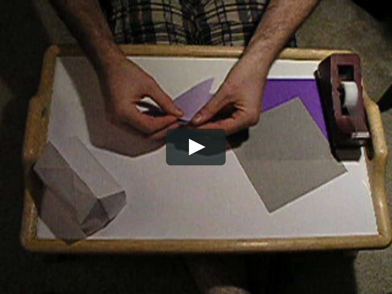 Papercraft Folding a simple 3D origami house