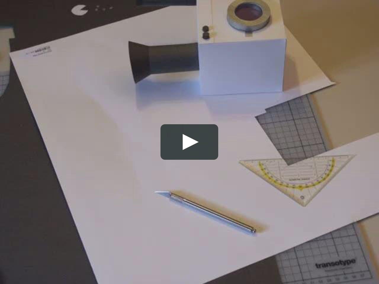 Papercraft Papercraft Wäschekorb timelapse