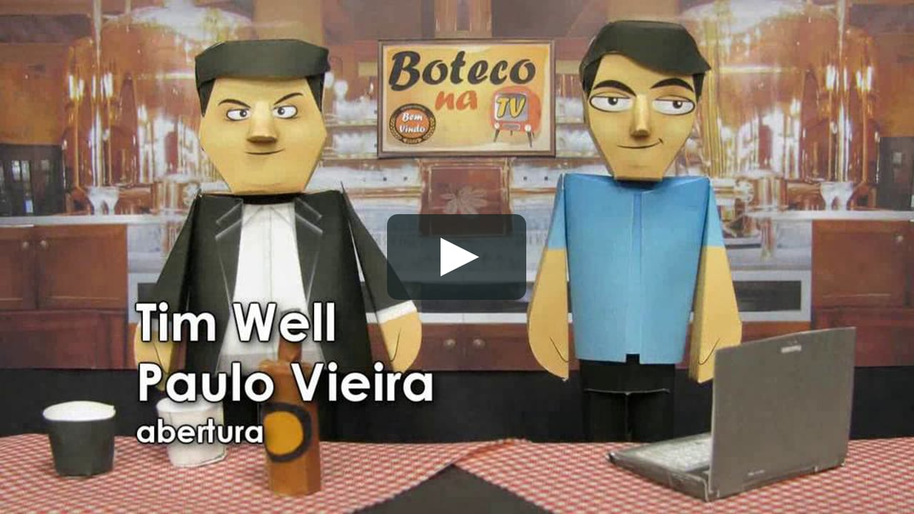 Papercraft Boteco na TV