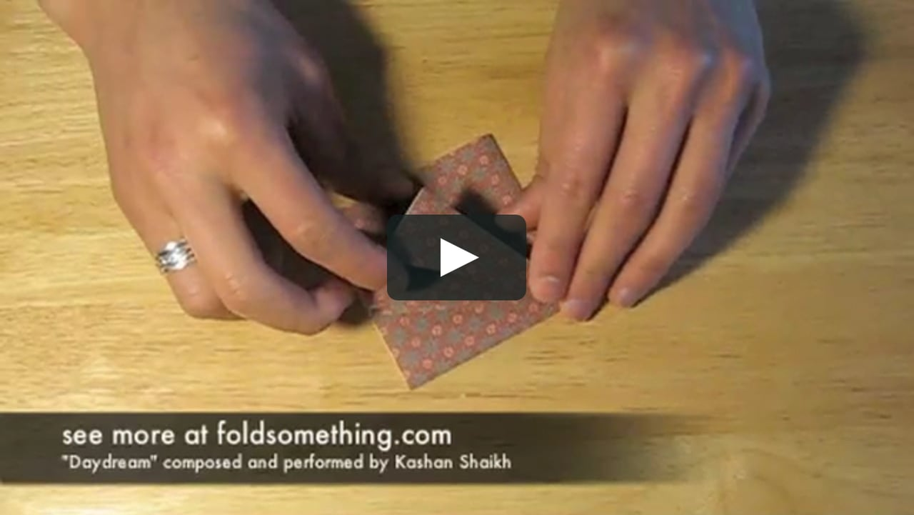 Papercraft how to fold an origami frog base