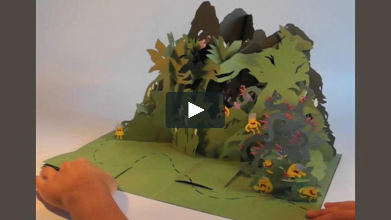 Papercraft 10 little treasure hunters, a pop-up adventure