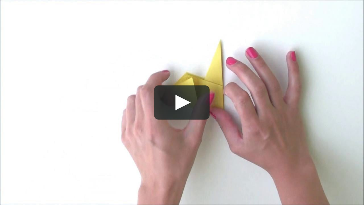Papercraft Origami Duck - Tutorial from Duckie Deck