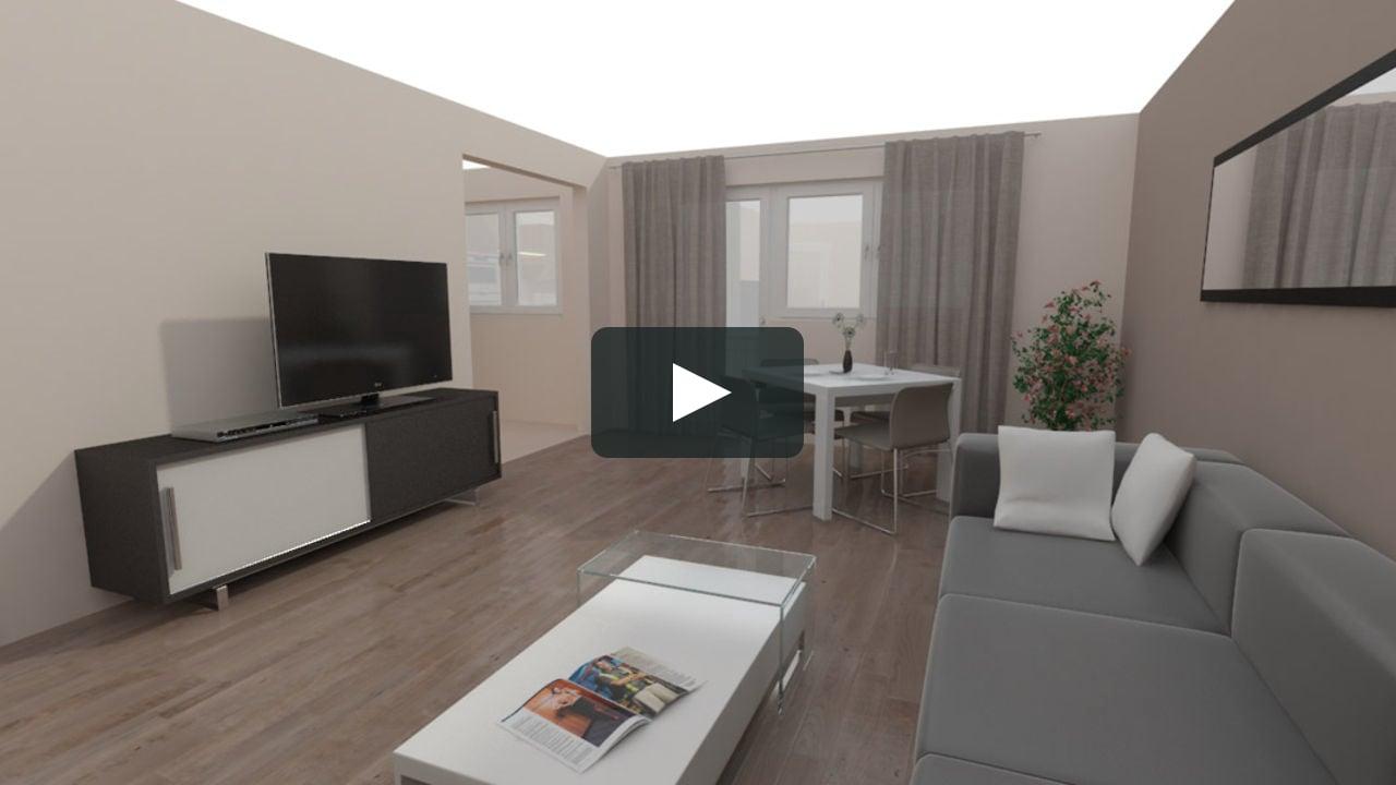 Immobilien innenvisualisierung wohnung typ 1 3d for Wohnung erstellen