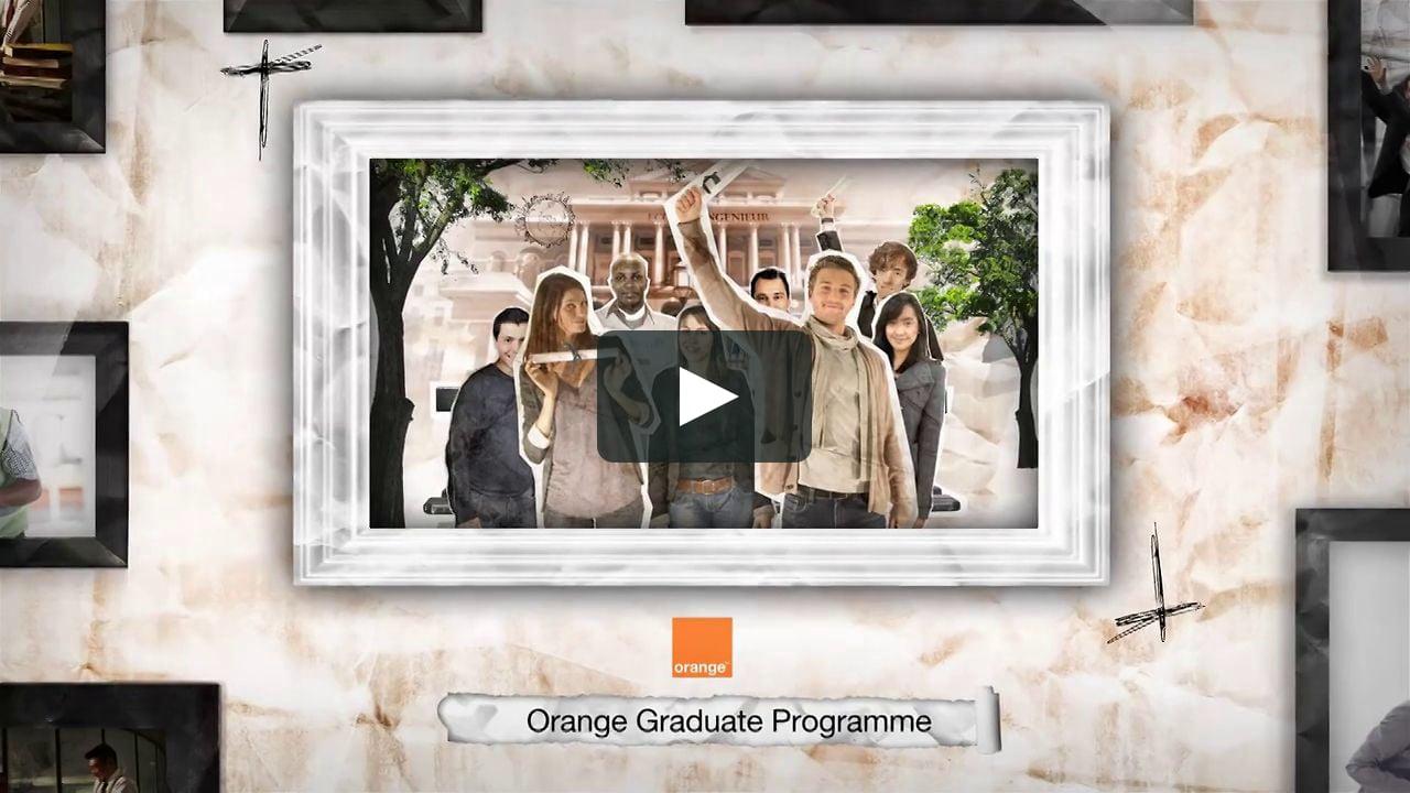 Papercraft Orange Graduate
