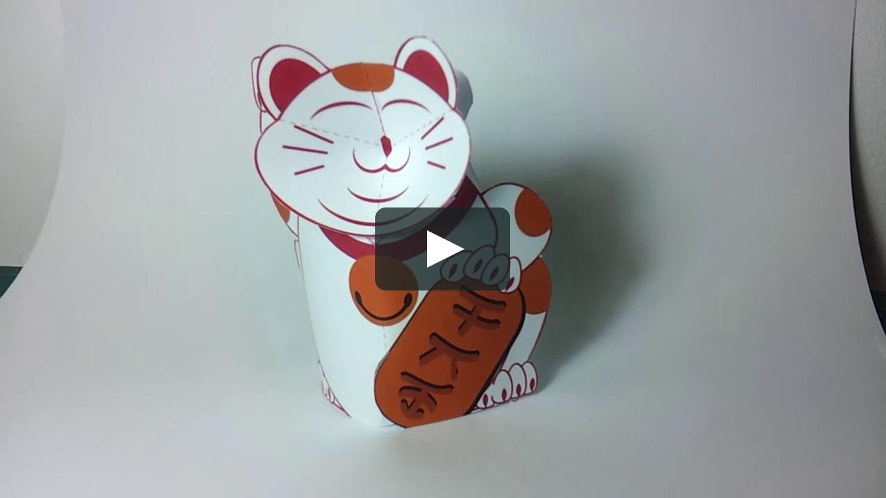 Papercraft Maneki mouse