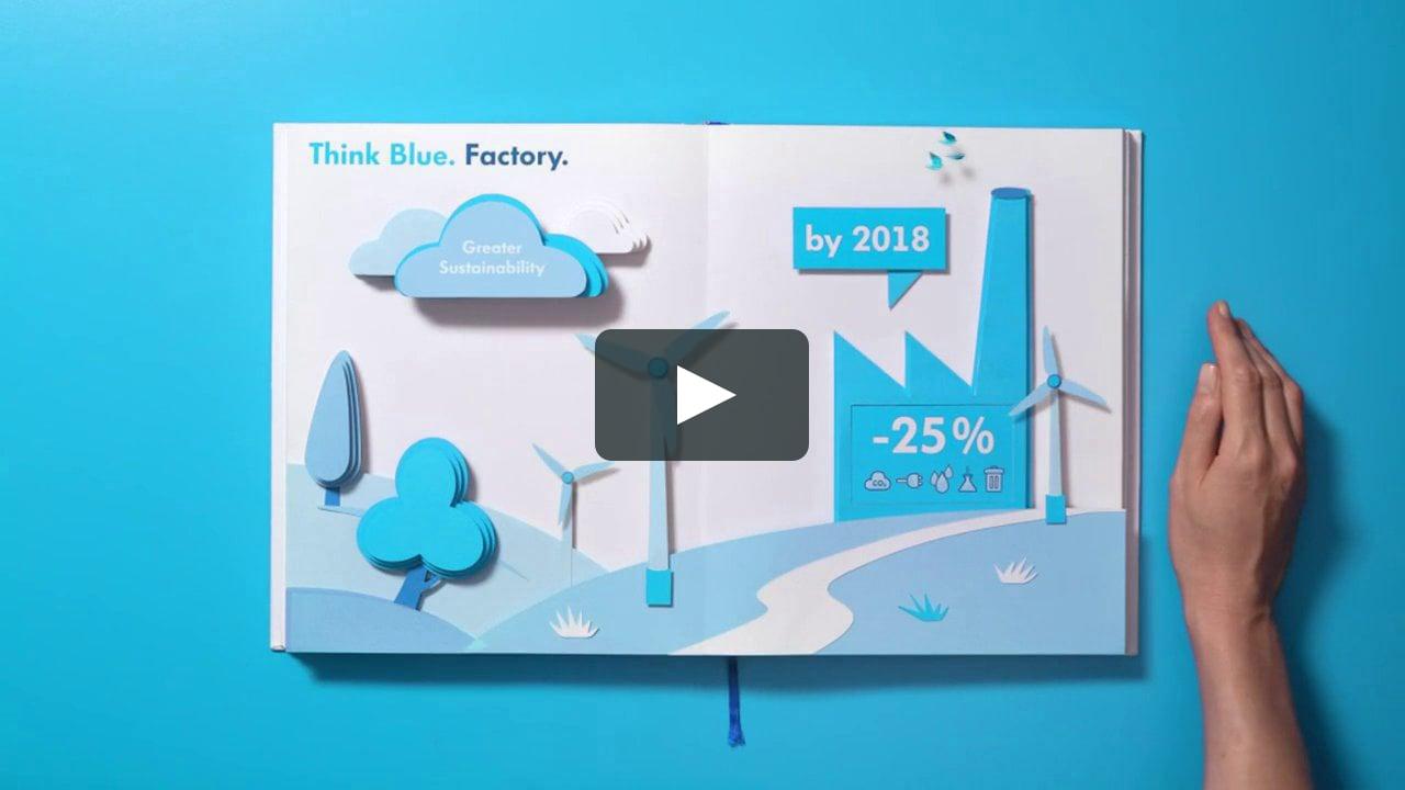 Papercraft VW Think Blue Imagefilm