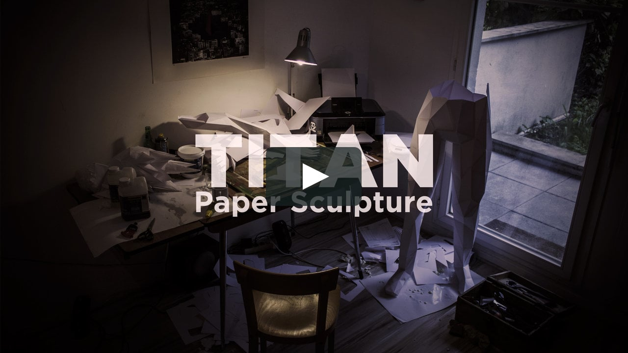 Papercraft TITAN, Paper Sculpture