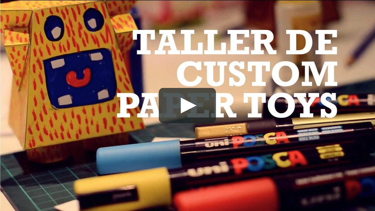 Papercraft Taller de Custom Paper Toys - Kioshi Shimabuku