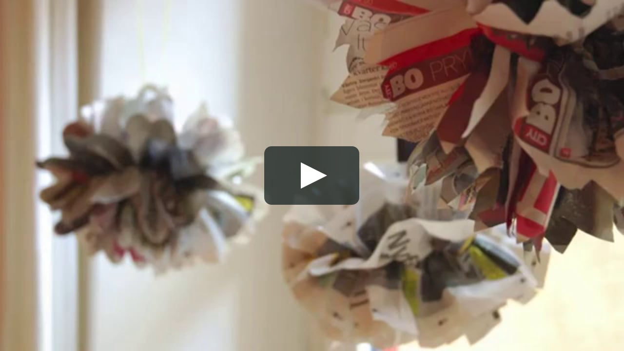 Papercraft How to make party decorations with newspaper