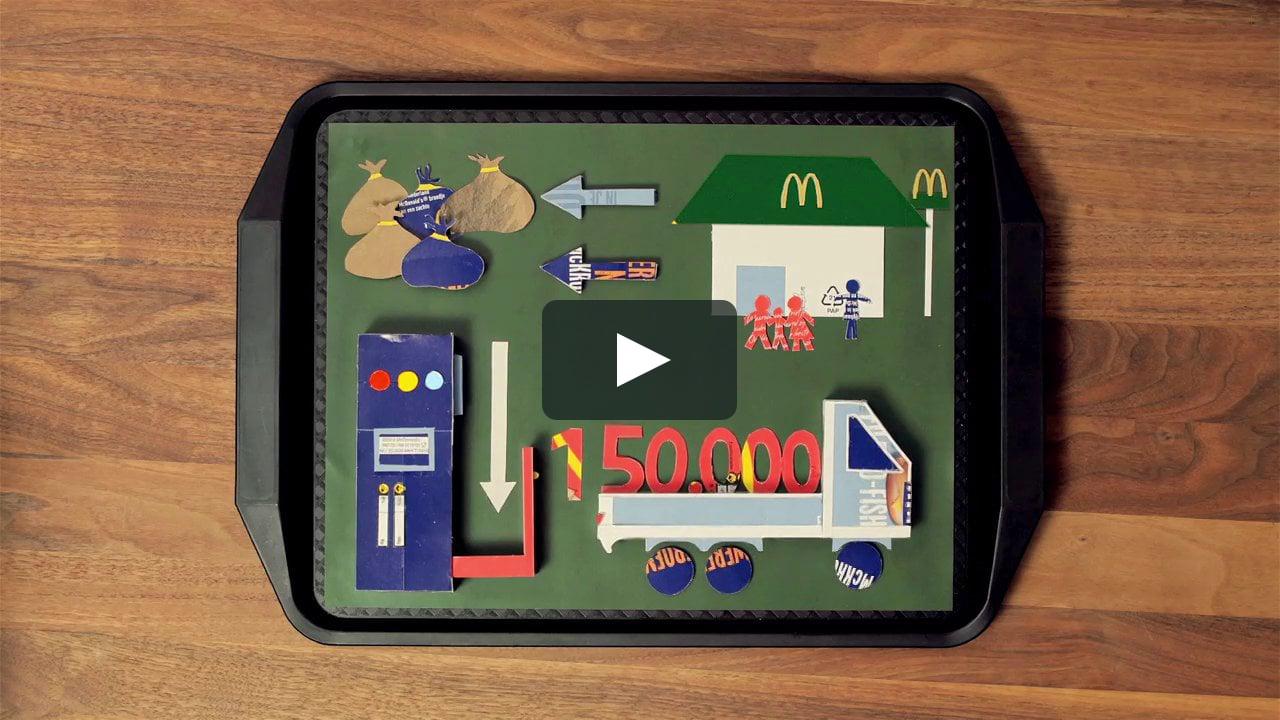 Papercraft McDonald's