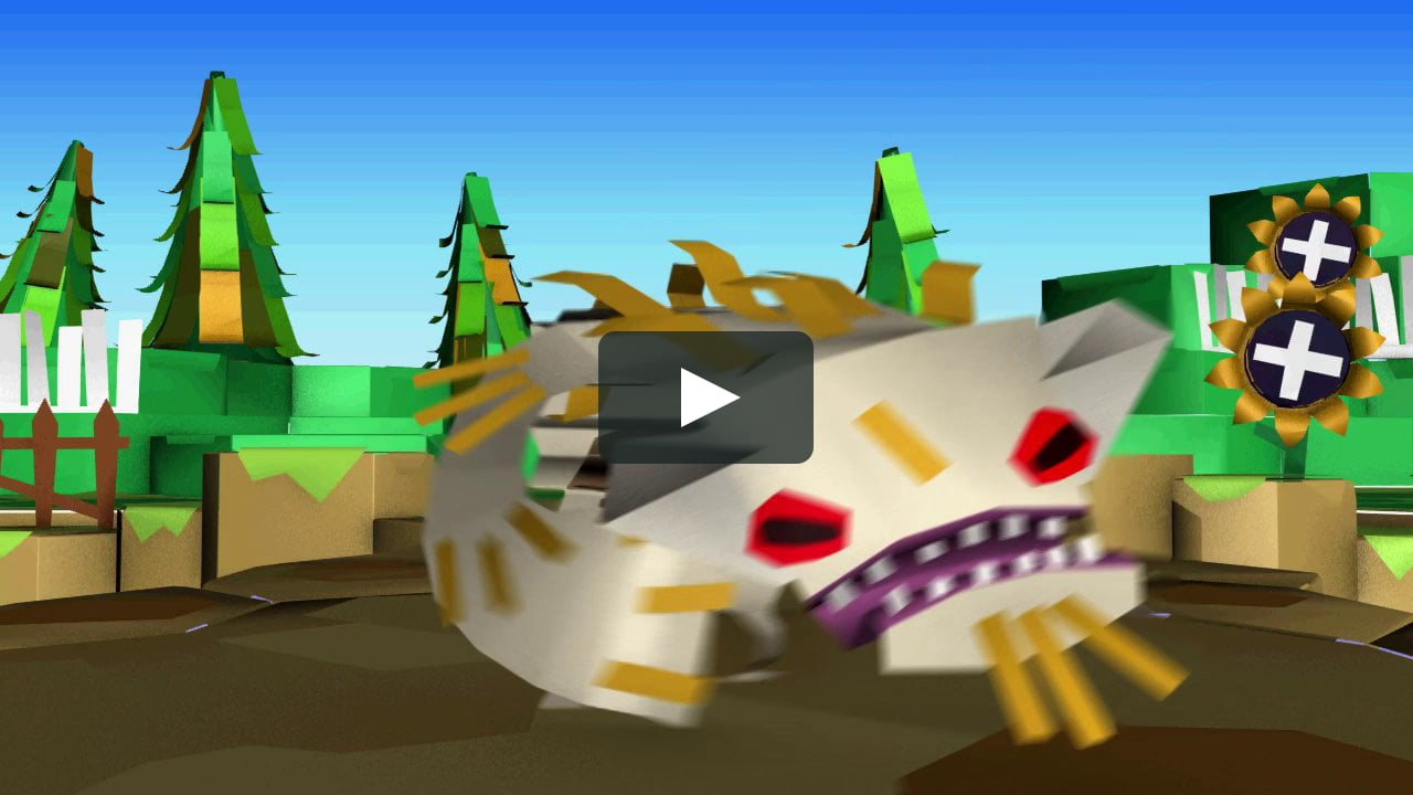 Papercraft Tearaway :: in-game animation showreel ::