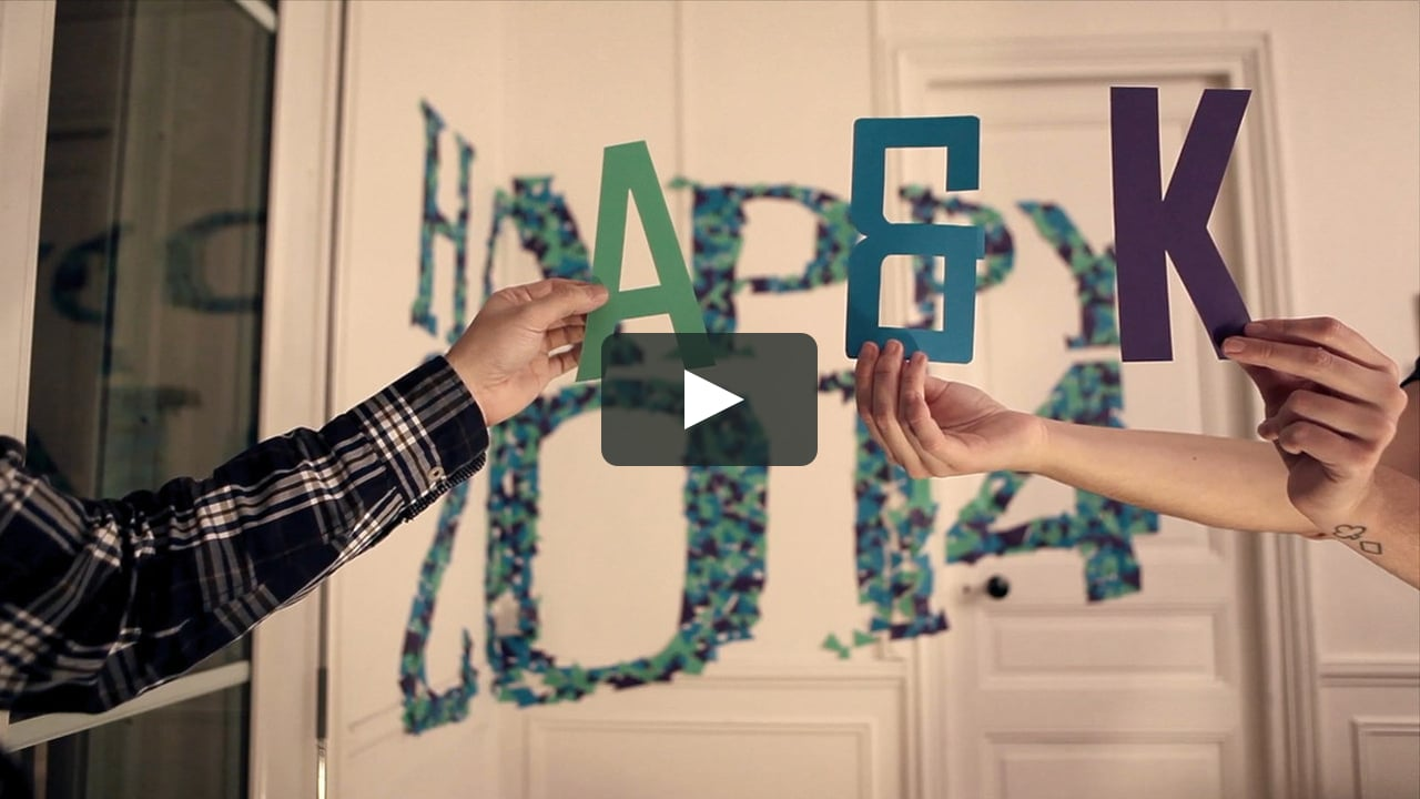 Papercraft Happy New Year 2014 (anamorphose)