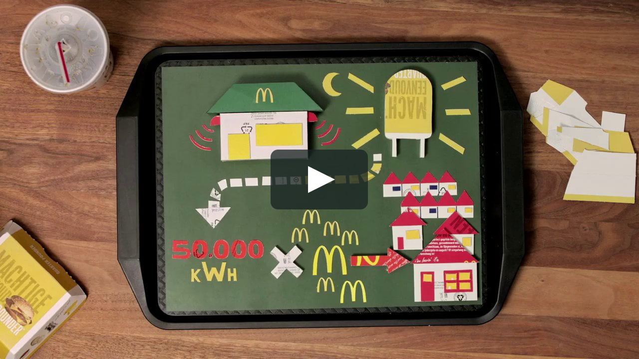 Papercraft McDonald's LED Lights