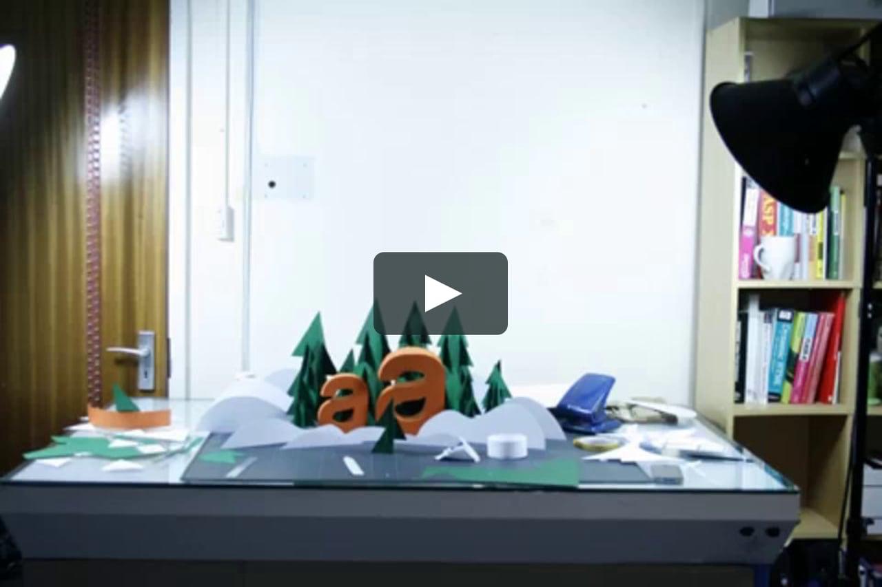 Papercraft Acorn Christmas Card Process