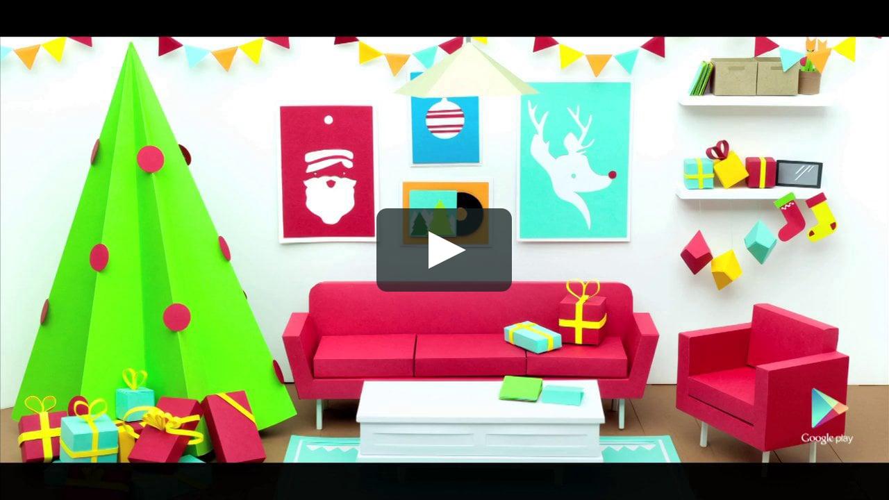 Papercraft Google Play Christmas Promo
