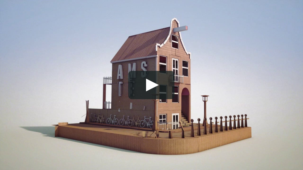 Papercraft Folding paper house