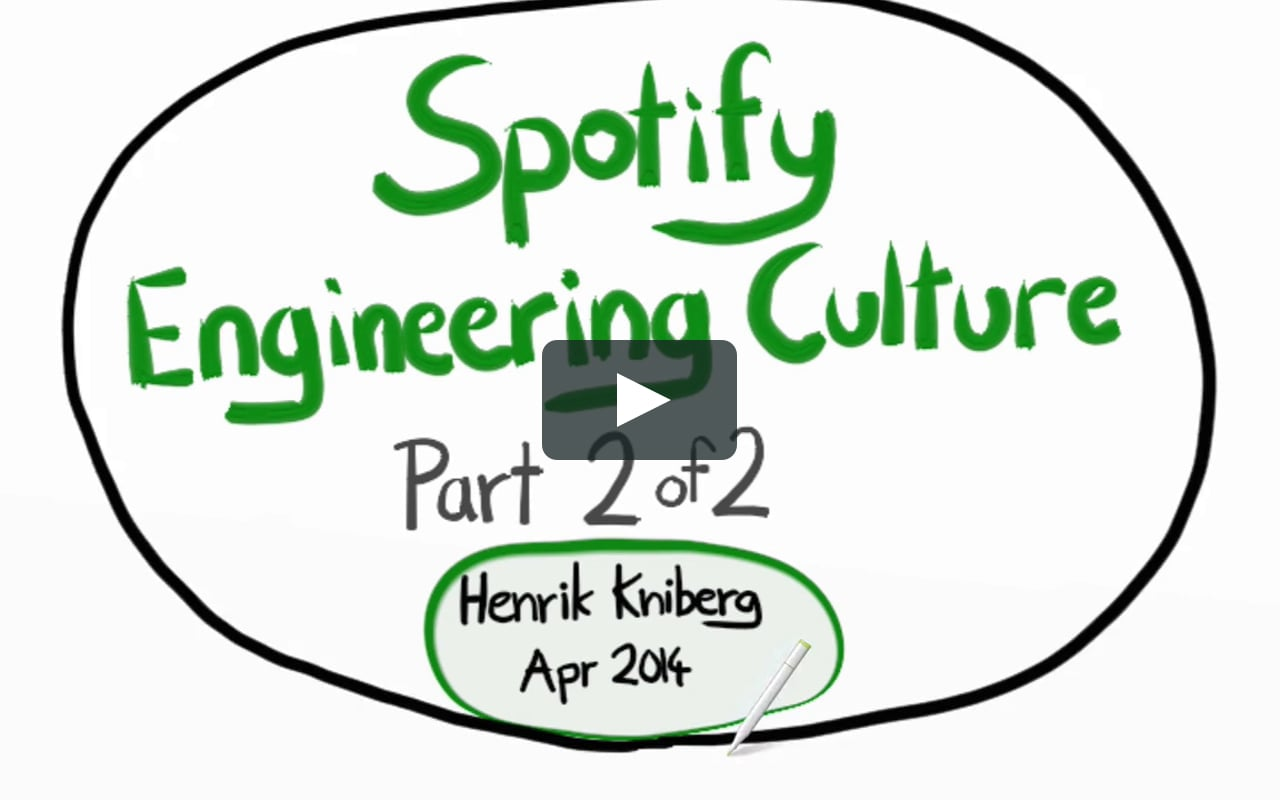 Spotify Engineering Culture - part 2