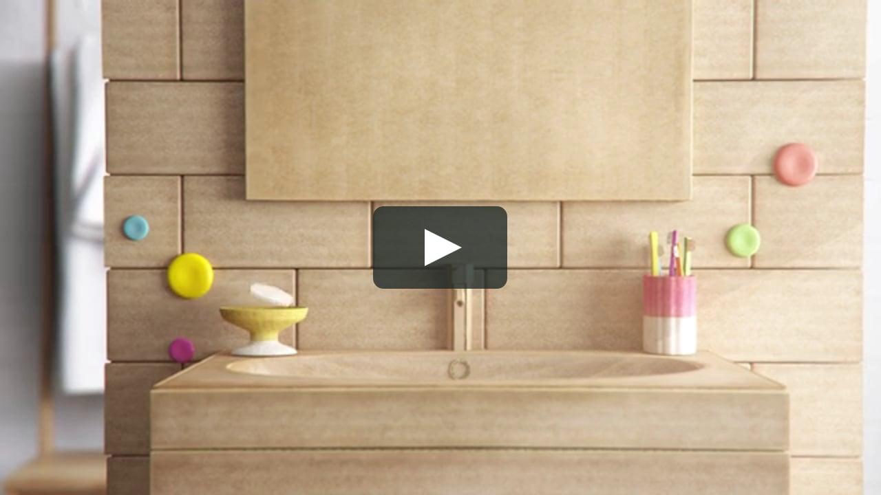 Papercraft Ikea Escuela de decoración (Baños)