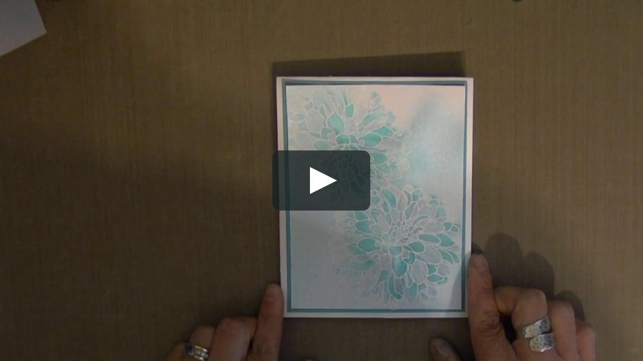 Papercraft Regarding Dahlia - Stampin' Spritz Resist