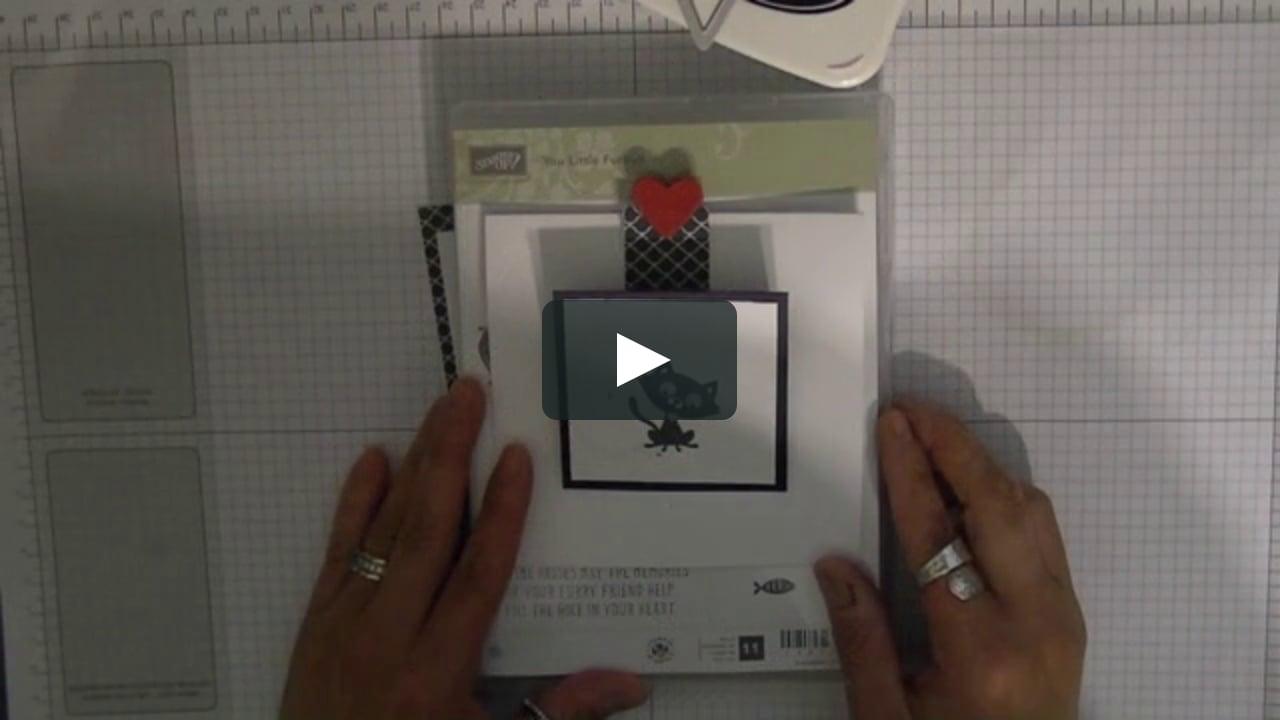 Papercraft You Little Furball - Slider Card