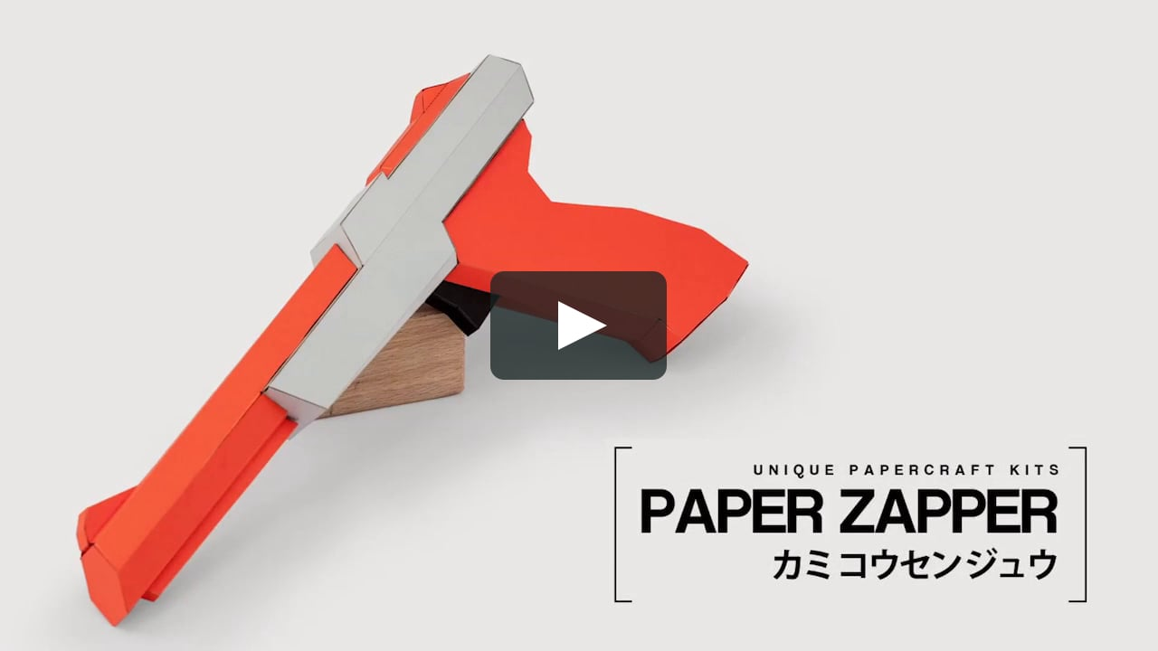Papercraft Paper Zapper Orange - DIY Papercraft Kit (pre-cut)