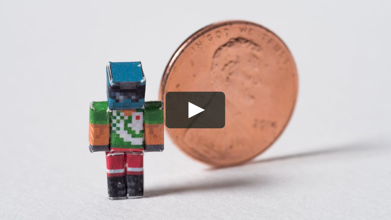 Papercraft Micro Papercraft Project - Achievement Hunter Minecraft