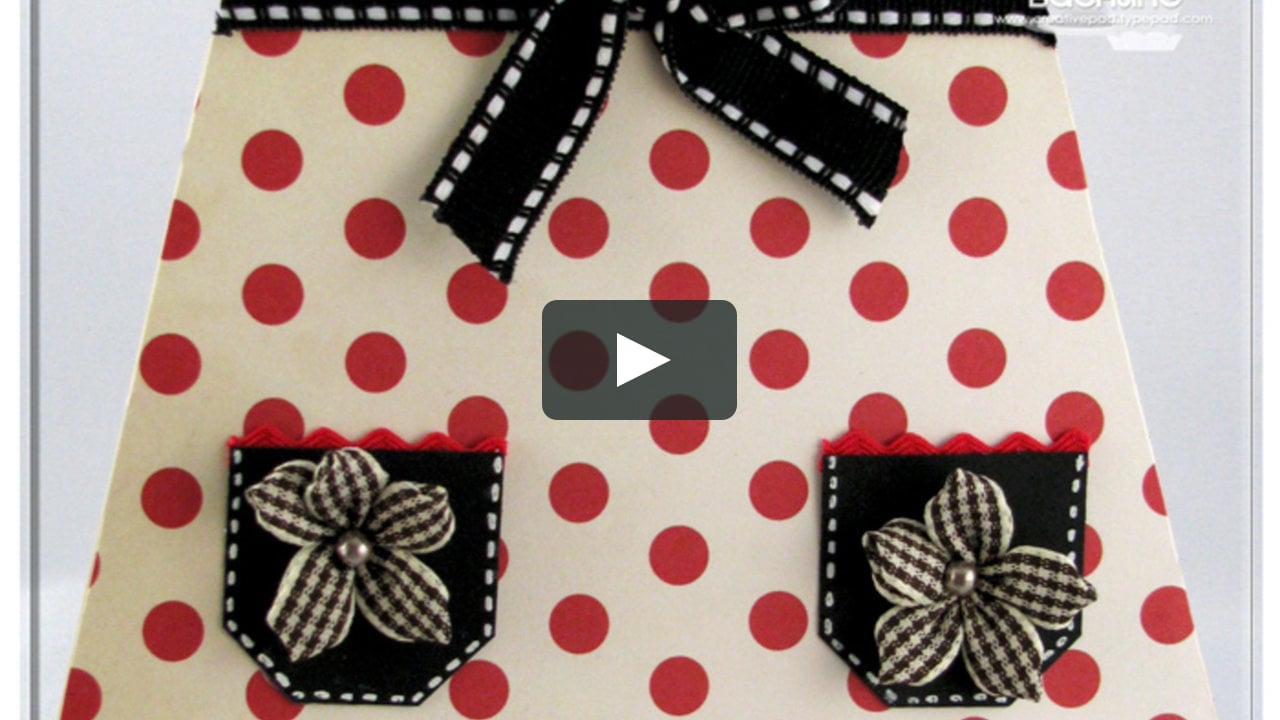 Papercraft Apron Gift Card Holder