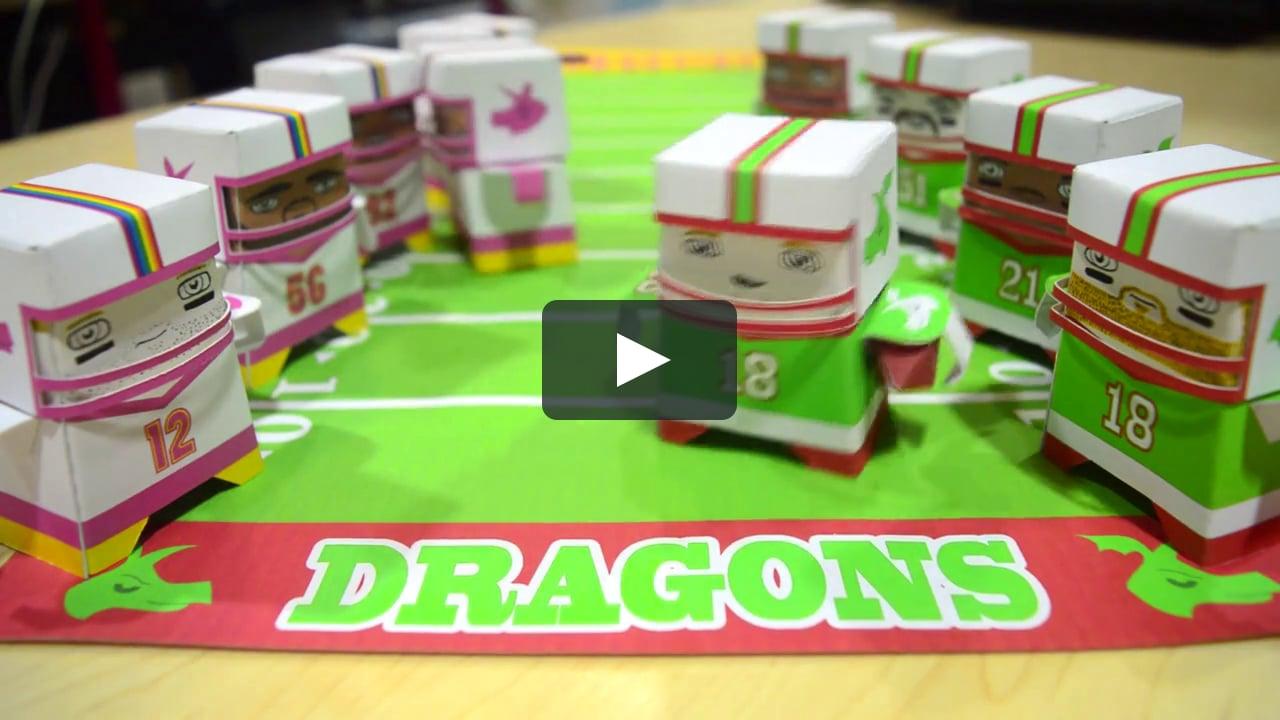 Papercraft Fizzbit Football