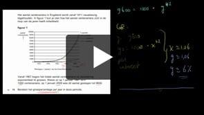 HAVO wiskunde A 2013-I opgave 15