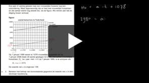 HAVO wiskunde A 2013-I opgave 3
