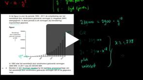 HAVO wiskunde B 2013-II opgave 2