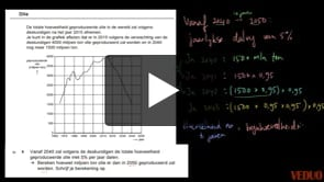 VMBO wiskunde 2014-I opgave 5