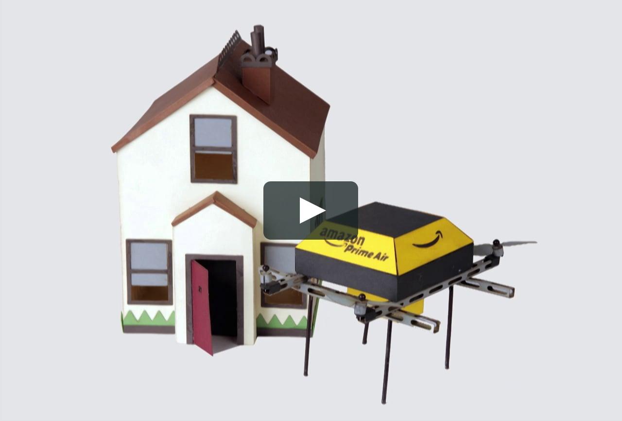 Papercraft Amazon Prime Air animation 1