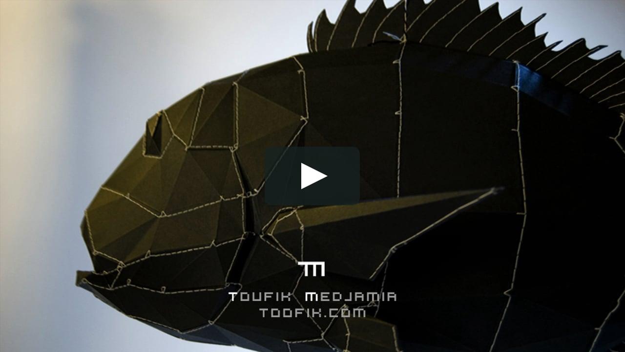 Papercraft Fish King - Le roi poisson