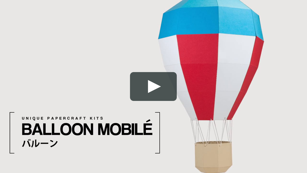 Papercraft Balloon Mobilé - DIY Papercraft Kit (pre-cut)