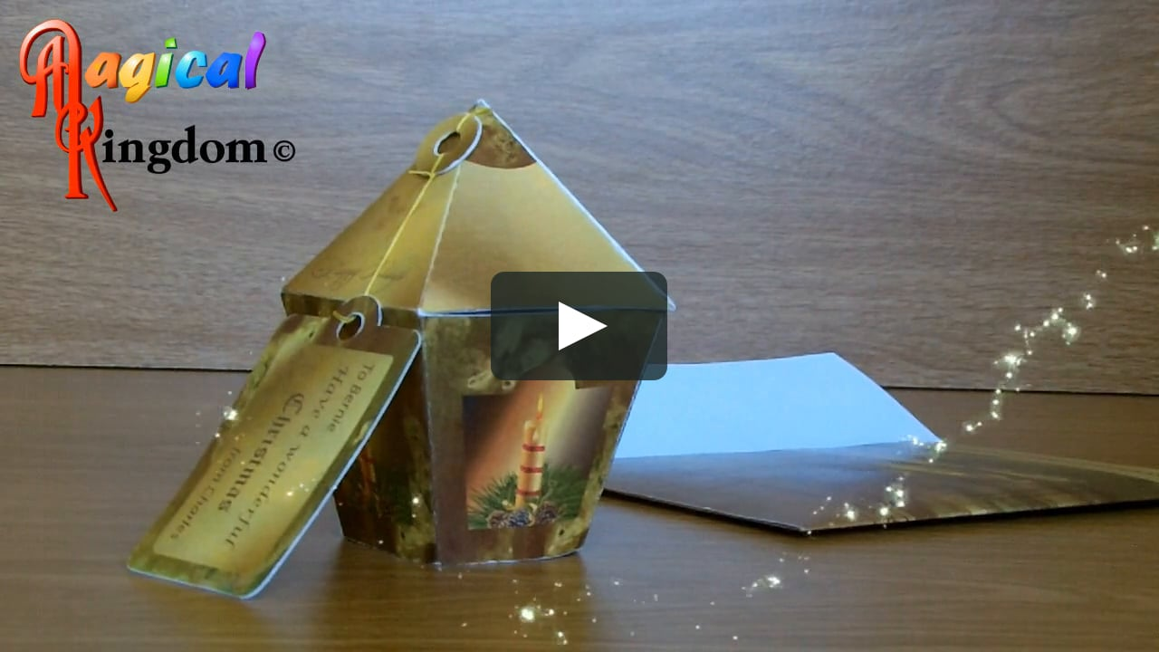 Papercraft 3D Popup Victorian Lantern Christmas Card Demo