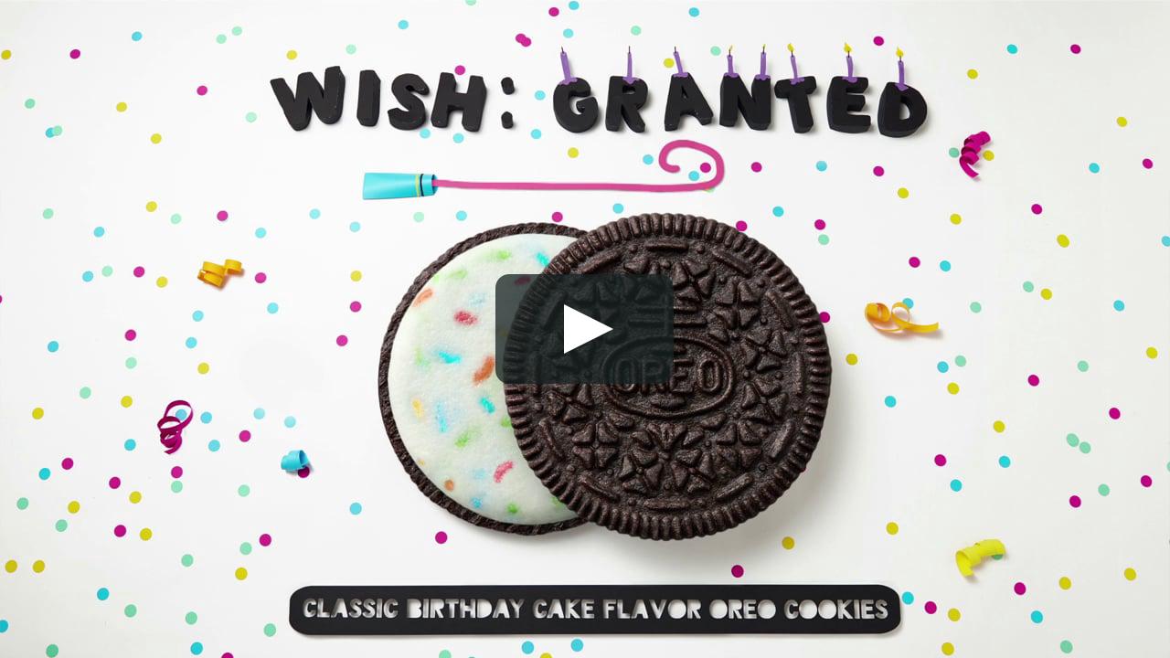 Papercraft OREO - Classic birthday cake flavor
