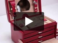 Caseta bijuterii Bijoux, din piele naturala - WindRose
