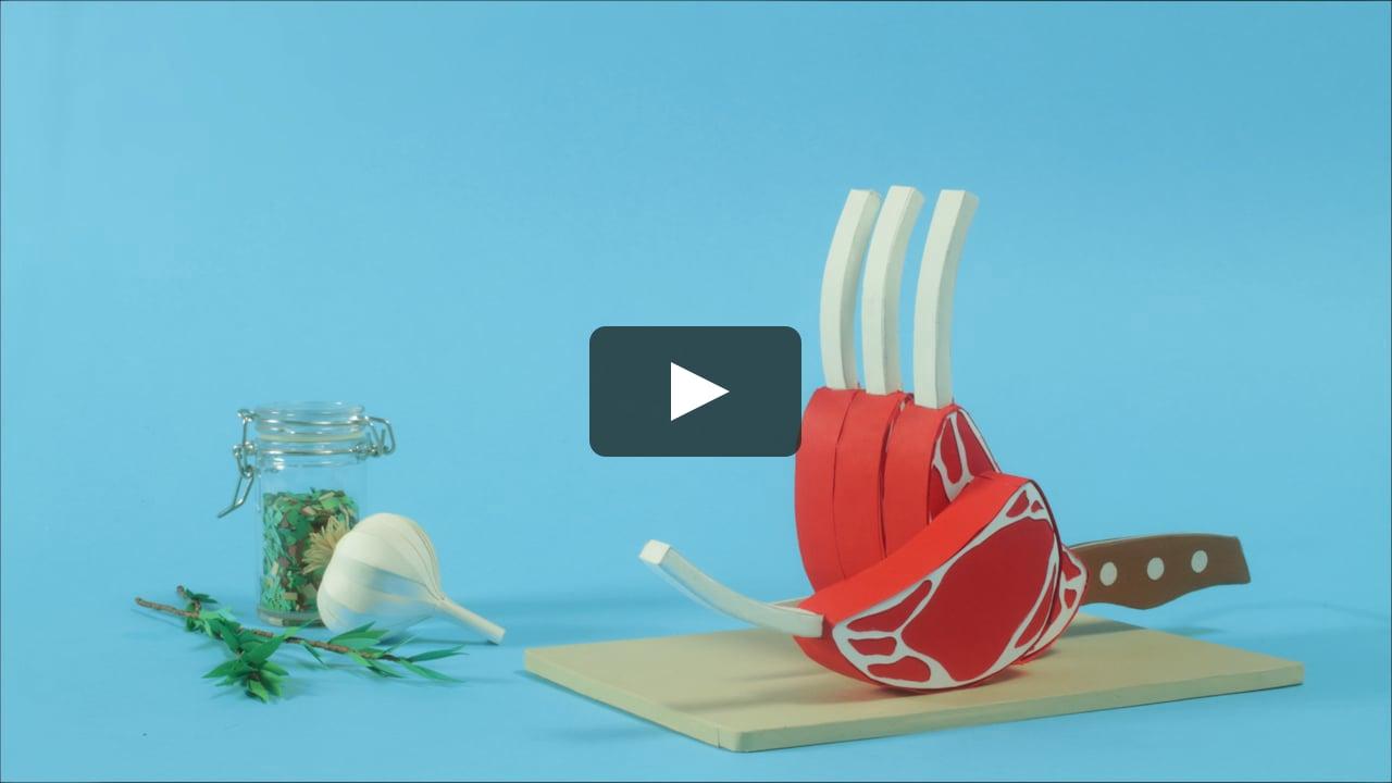 Papercraft Costolette di agnello