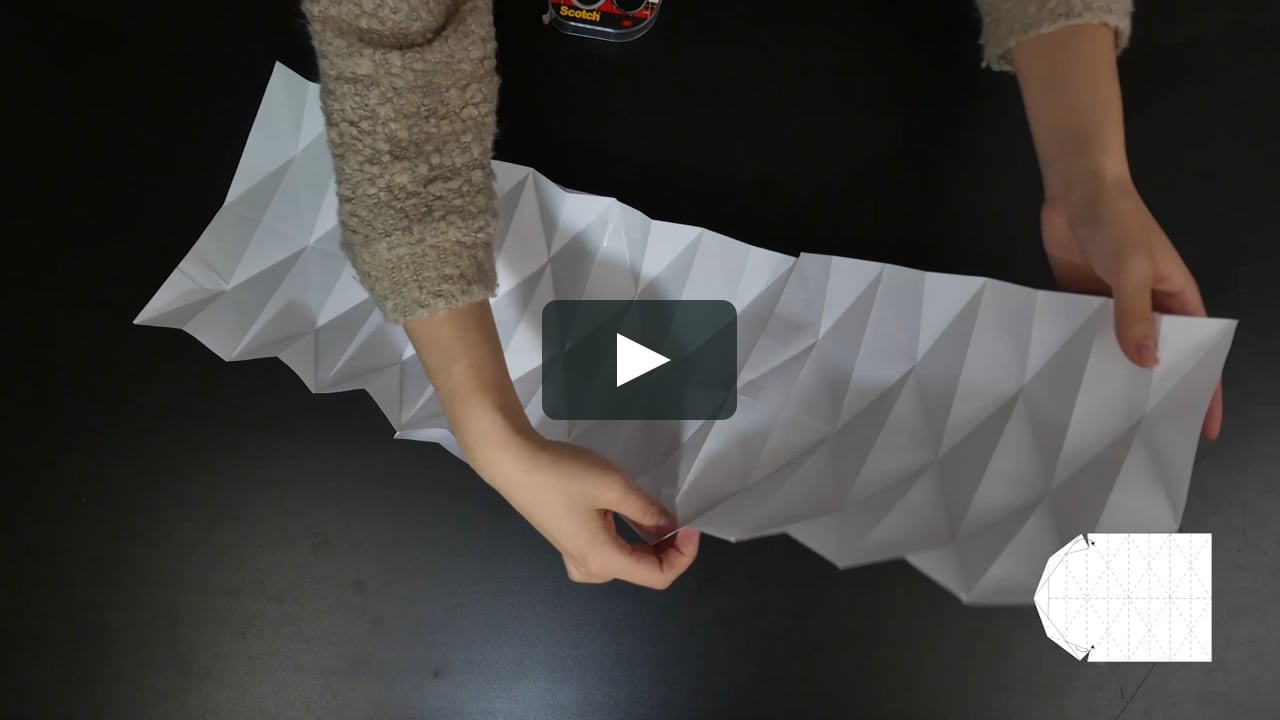 Papercraft How to make an origami lamp